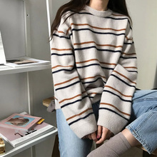 Sweater Pullovers Long-Sleeve Korean Womens New Autumn Winter And Knitted Vest Loose
