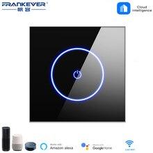 FrankEver الاتحاد الأوروبي الذكية الجدار Swtich 10A 110 فولت 250 فولت واي فاي مفتاح الإضاءة LCD لوحة التحكم الصوتي APP يعمل مع أليكسا جوجل الرئيسية
