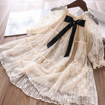 5250 Lace Embroidery Princess Baby Girl Dress 2020 New Spring Party Wedding Kid Dress For Girl Wholesale Children Clothes 5PLot
