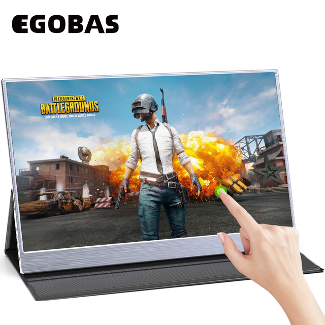 15.6 Ultrathin Al Alloy Touchscreen Portable PD Reverse Charge Monitor for Laptop Phone XBOX Switch PS4 Gaming Working Monitor 2