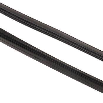 Blade Refill Universal Auto Windscreen Frameless Strip Wipers Black 2Pcs 6mm 26 inch Car Rubber Windshield Wiper image