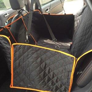 Image 5 - Köpek araba görüş Mesh su geçirmez evcil hayvan taşıyıcı araba arka sıra arka koltuk minderi hamak fermuar ve cep ile nefes yastık kedi
