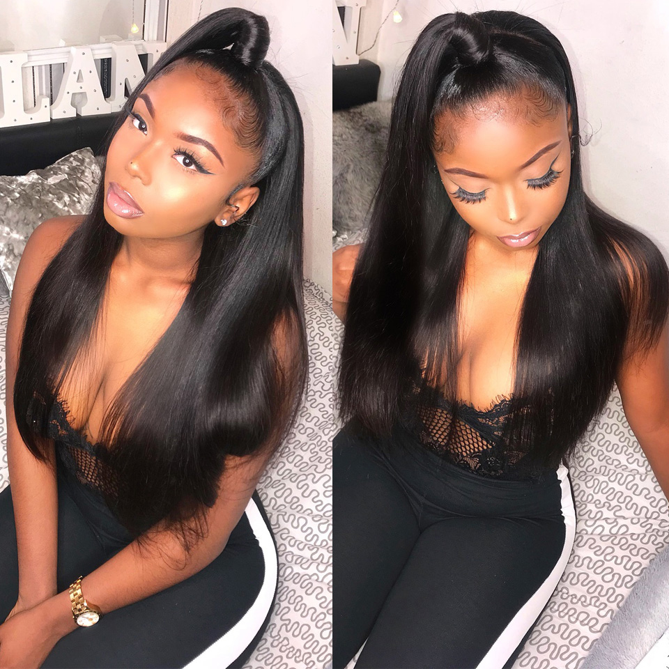 360 Lace Frontal Wigs Silky Straight Brazilian Hair Wig 13X4 Lace Front Human Hair Wigs Natural Hairline Fashow Remy Hair Wigs