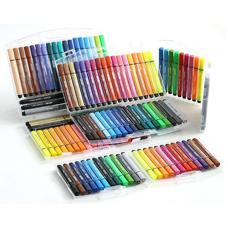 Children's Drawing Special Watercolor Pen Set For Children's Drawing 12/18/24/36/48 Color Washable Pen Painting Supplies