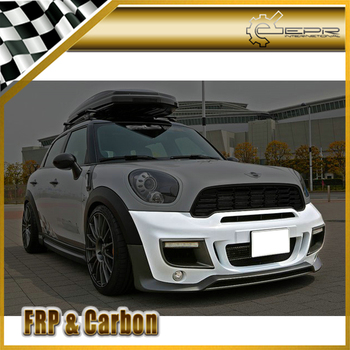For R60 Countryman DAG Glass Fiber Front Bumper Trim (Included round fog & DRL) Body Kit Tuning For MINI R60