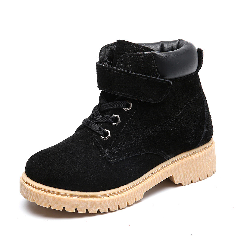 Genuine Leather Childrens Boots Snow Girl Shoes For Kids Warm Winter Martin Boy Boots For Little Girl High Quality 2-12 Years