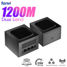 Mesh WiFi System 1200Mbps Whole Home Wi-Fi Mesh Network ,Dual Band Gigabit AC1200 5Ghz WiFi Router/Extender,Easy Set Up Repeater