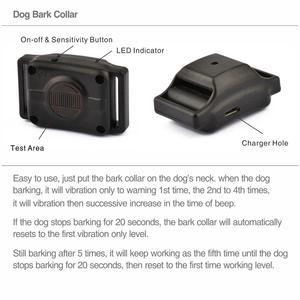 Image 4 - Ошейник для собак, автоматический ошейник для контроля лай, электрический ошейник без ударов, тренировочное ожерелье для собак и щенков