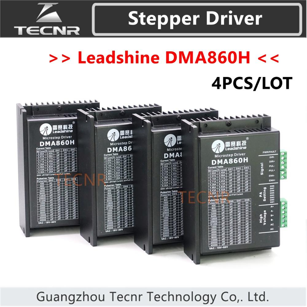 dma860h - 4pcs original Leadshine DMA860H driver DC 24-80V for 86/110 2 Phase stepper motor replace MA860H,MA860