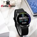 Rollstimi 2021 men's smart watch wristband men's and women's sports clock heart rate monitor sleep monitor Bluetooth bracelet