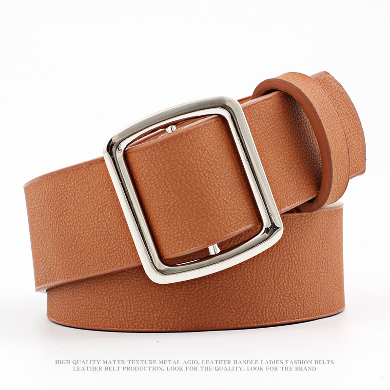 New Style Women's Alloy Accessories Non-Pin Buckle Leather Belt Korean-style Trend Versatile Pu Summer Dress WOMEN'S Waistband