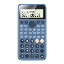 Portable Scientific Calculator 12 Digits Two Line Display Battery Powered Multifunctional Professional Study Exam Calculator