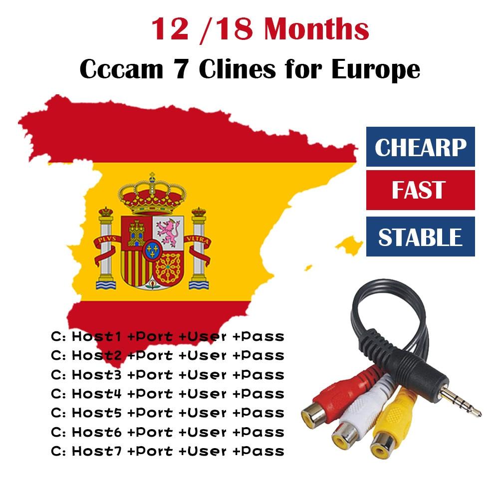 36M AV cable 8 lineas for Europe DVB-S2 Satellite GTmedia V8 Nova V7S V9 Freesat V7 oscam free test ccams