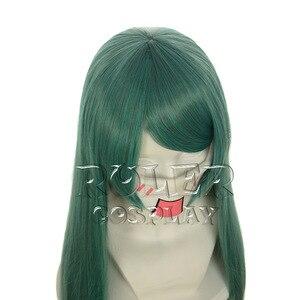 Image 5 - Higurashi nie Naku Koro Ni Cosplay sonozakiego kostium zielony odporne na ciepło włosy Party do odgrywania ról włosów peruka + darmowa peruka Cap