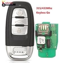 Kutery Keyless Gehen 754J 3 Tasten Volle Smart Remote Auto Key Fob Für Audi A4 A5 A6L A7 A8 Q5 315/433Mhz PCF7945AC Chip