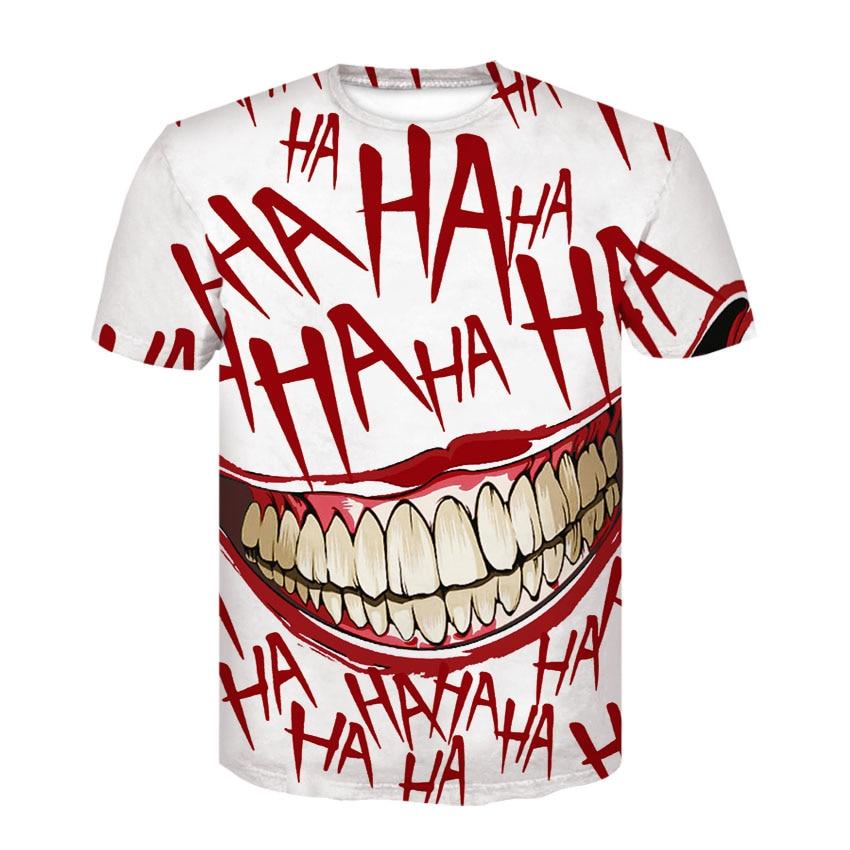 HAHA Joker T Shirt Funny Smile Print Tops 3D T Shirt Men s Summer Tops US