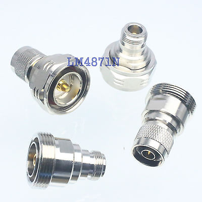 DHL/EMS 8 Pcs 1set Adapter 7/16 DIN & N Female Jack & Male Plug RF Connector Straight -d2