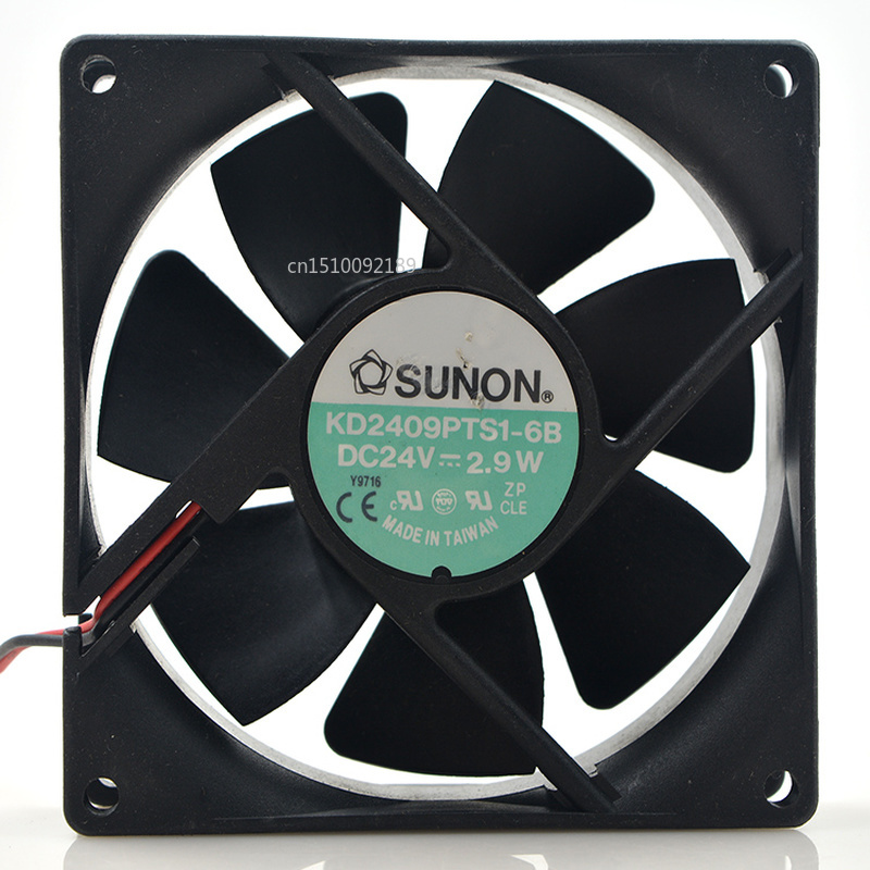 For Original KD2409PTS1-6B Computer Blower Double Ball Cooling Fan DC 24V 2.9W 0.12A 9025 90*90*25mm 3850RPM 2 Wires