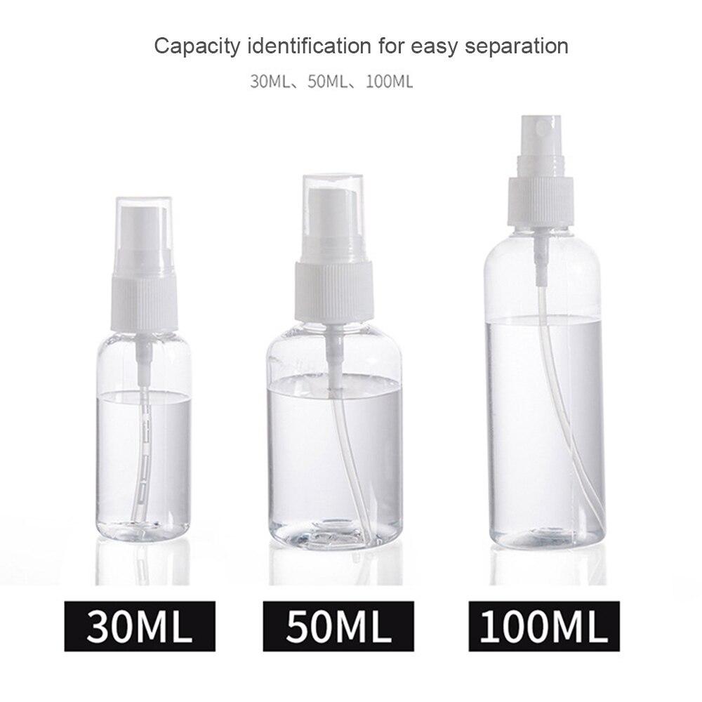 1PCS 30ml 50ml 75ml Kunststoff Spray Flasche Reise Make-Up Und Hautpflege Nachfüllbare Flasche Transparent Kunststoff Parfüm Spray Flasche