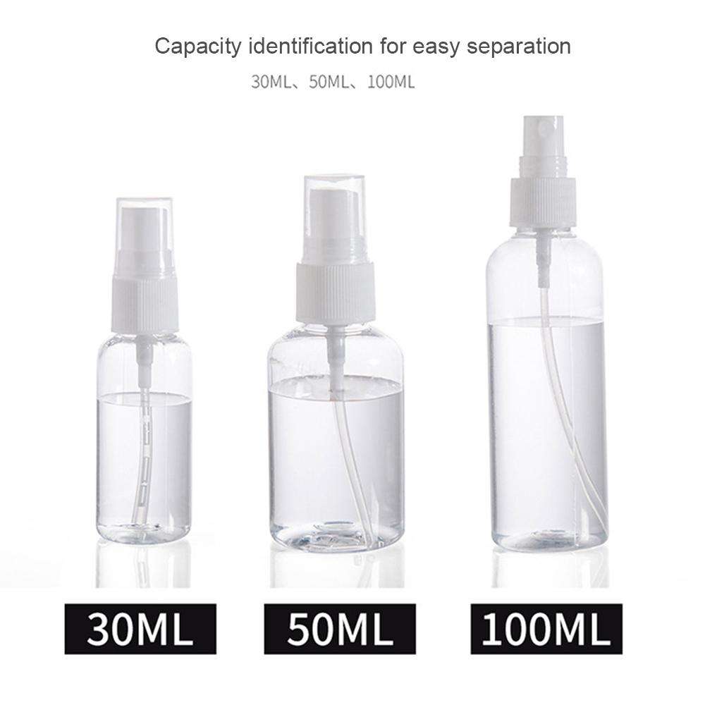 1PCS 30ml 50ml 75ml Plastic Spray Bottle Travel Makeup And Skin Care Refillable Bottle Transparent Plastic Perfume Spray Bottle