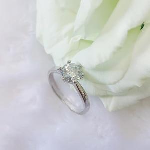Image 2 - 925 แหวนเงิน 1ct Lab Diamond เครื่องประดับ Moissanite แหวน Round Brilliant CUT แหวนสำหรับผู้หญิง