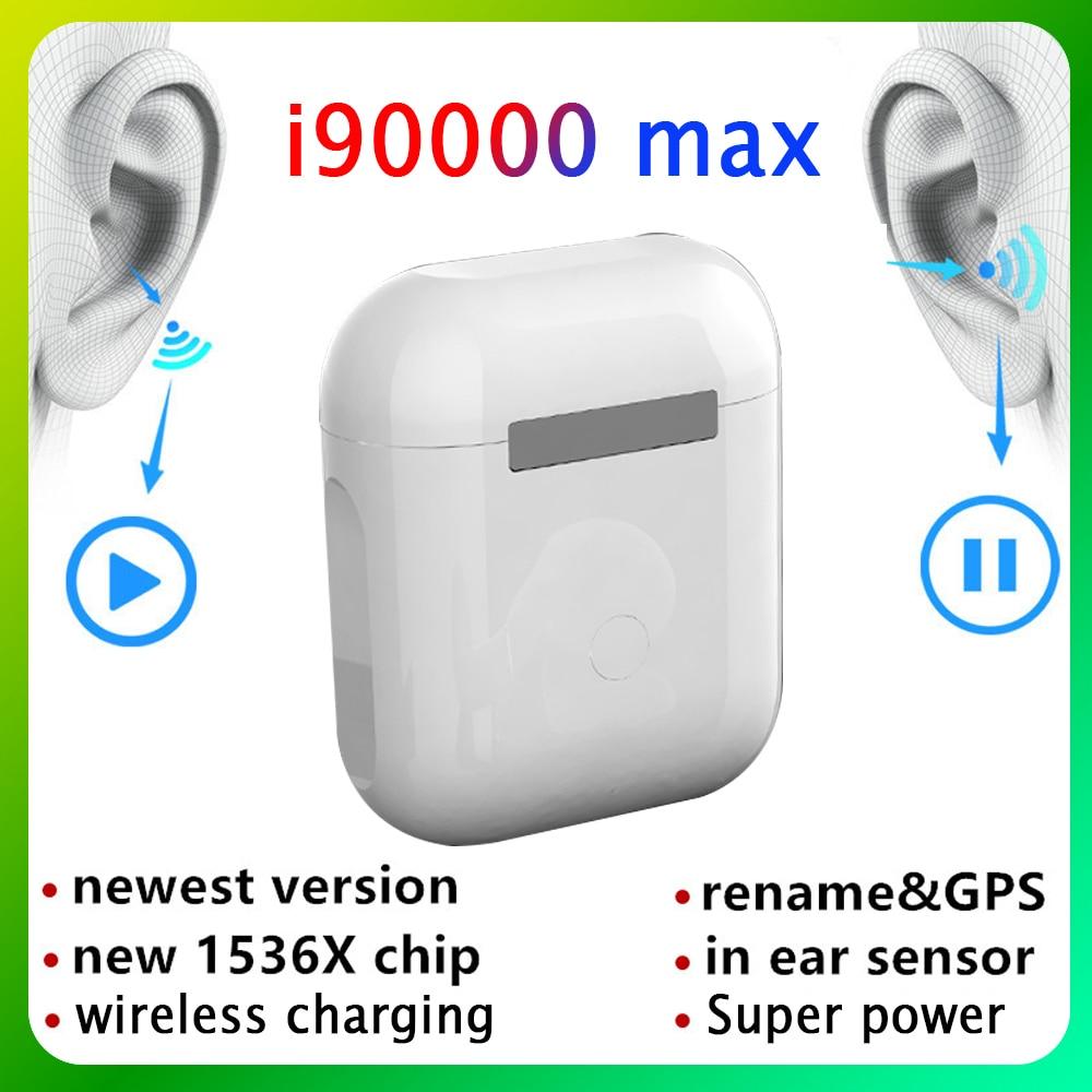 Fones de ouvido sem fio bluetooth tws gps renomear gen 2 i90000 pro android i90000 max pk i9000 tws fones de ouvido