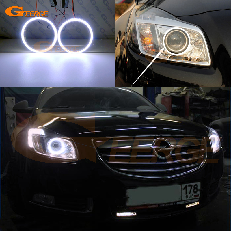 Excellent COB Led Angel Eyes Kit Halo Rings Ultra Bright For Opel Insignia A 2008 2009 2010 2011 2012 2013 Xenon Headlight