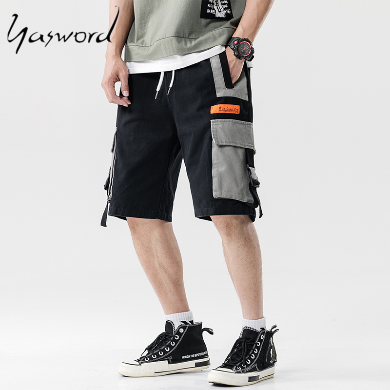 Yasword Summer Cargo Shorts Men Short Trousers Male Vintage Fashion High Quality