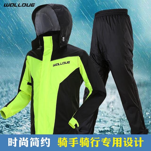 Adults Men Coat Motorcycle Raincoat Rain Pants Suit Rain Coat Men Waterproof Trench Coat Men Rainwear Thin Light Jacket Gift 1