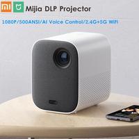 Xiaomi Mijia DLP Projector 1080P Full HD AI Voice Remote Control 2GB DDR3 8GB eMMC 500ANSI 2.4G / 5G WiFi 3D BT LED Projector