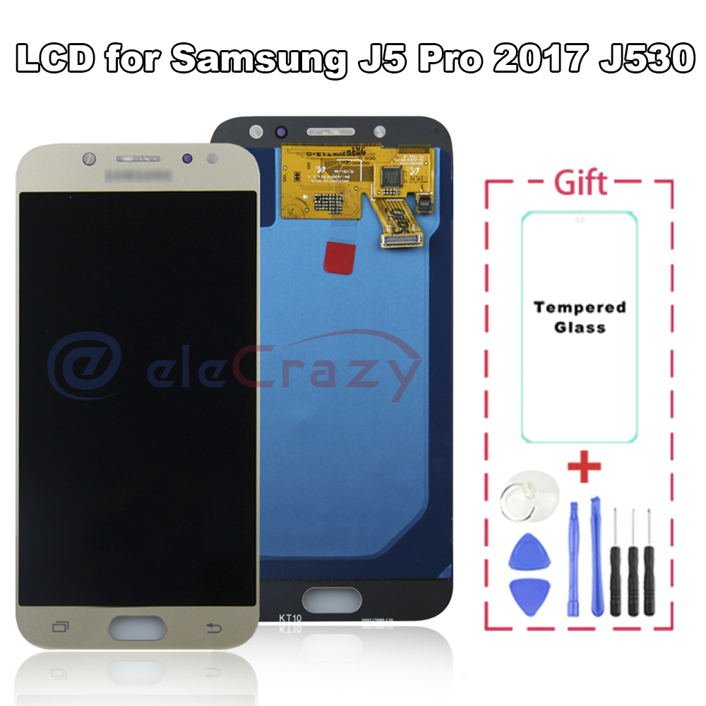 <font><b>Original</b></font> LCD for Samsung Galaxy <font><b>J5</b></font> <font><b>Pro</b></font> 2017 J530 J530F <font><b>Display</b></font> Touch Screen Digitizer Assembly Replacement 100% tested image