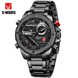 SWAVES Dual Display Watch Men