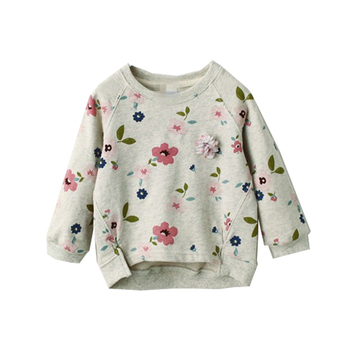 2-8 Years Girl Sweatshirt - Flower Print