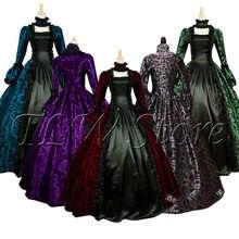 Plus size 5xl cosplay medieval palácio vestido de princesa adultos vestido de noite do vintage para as mulheres rendas sexy festa de halloween traje