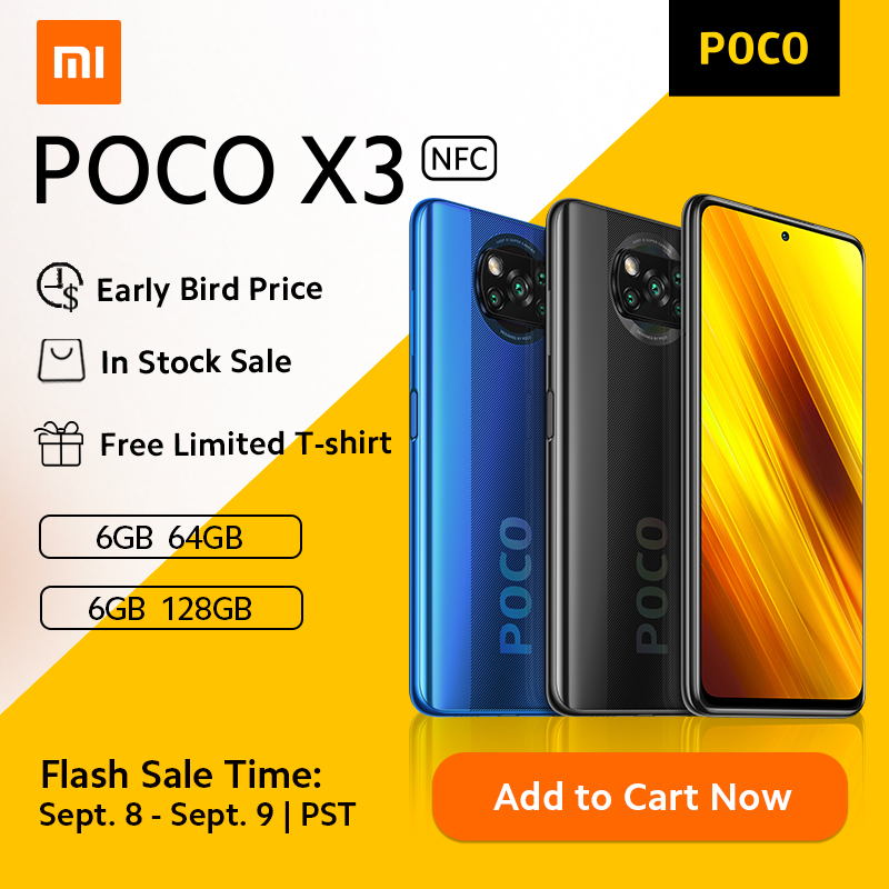 ¡Ha llegado!Pocophone POCO X3 64 Gb. por 168 euros (-25% desc.)