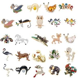 Винтажные броши-слоны для ловли рыбы, лошади, птицы, кота, фламинго, для женщин, Милая брошь-насекомое, булавка, зимнее пальто, аксессуары, под...