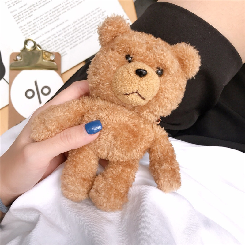 New Cute Cartoon Bear Headphone Case For Apple Airpods 2 Soft Silicone Plush Animals Bluetooth Earphone Protective Cover