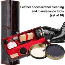 1 Набор кожаных ботинок для полировки, очистки комплект блестящим и чистящее средство для обуви, сумок и JS23