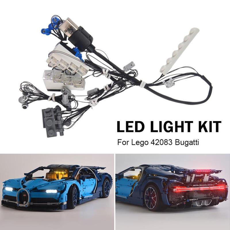 DIY Luminous Assembled Building Blocks LED Light Kit  For LEGO 42083 Technical Series Racing Car Toys Building Blocks Supplies