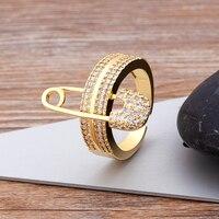 Anillo de oro de circón geométrico para mujeres y niñas, joyería de talla ajustable para vacaciones en la playa, verano, nueva moda, venta al por mayor