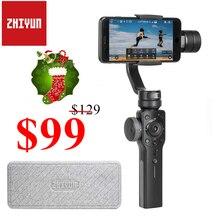 Zhiyun Smooth 4 Vlog Live 3-осевой портативный смартфон сотовый телефон видеокамеры Стабилизатор для iPhone Xs Max X 8 7 и samsung S9, S8 7 экшн Камера