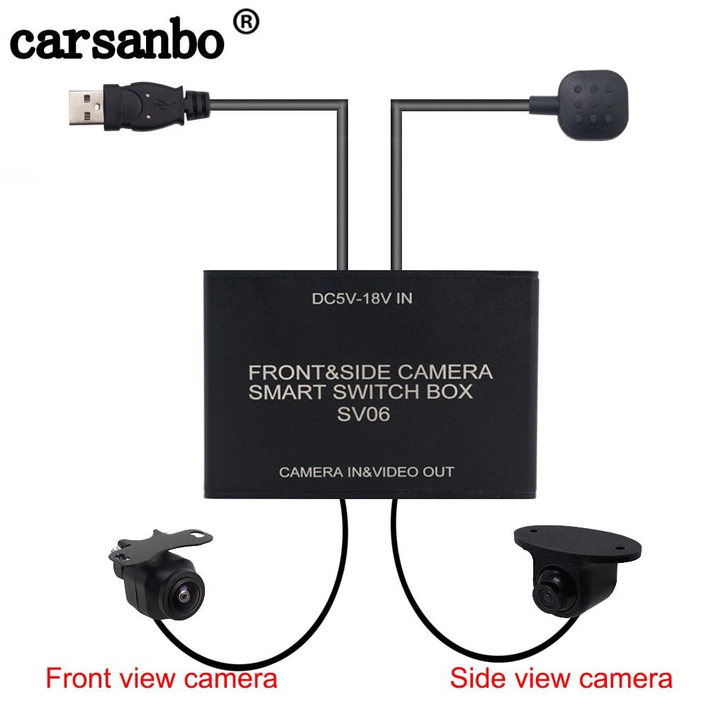 Universal Car 4-Way Video Switch Parking Camera Image Split-Screen Control Box