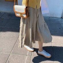 Женская трикотажная Однотонная юбка трапеция новая осенне зимняя