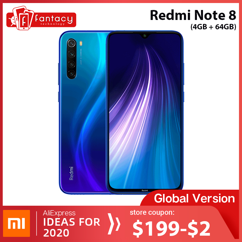 Global Version Xiaomi Redmi Note 8 <font><b>4GB</b></font> <font><b>64GB</b></font> 48MP Quad Cameras <font><b>Smartphone</b></font> Snapdragon 665 Octa Core 6.3
