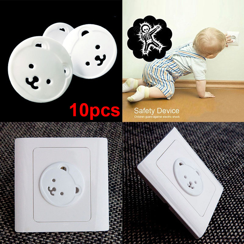 High Quality 10/20Pcs Safety Outlet Plug Covers Child Baby Proof Electric Shock Guard Cap