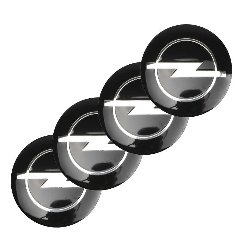 4 pièces 60mm Capuchons De Moyeu de Roue Logo D'insigne de Voiture Capuchon de Roue Pour Opel Zafira b Astra h g j k f Mokka Corsa d Vectra