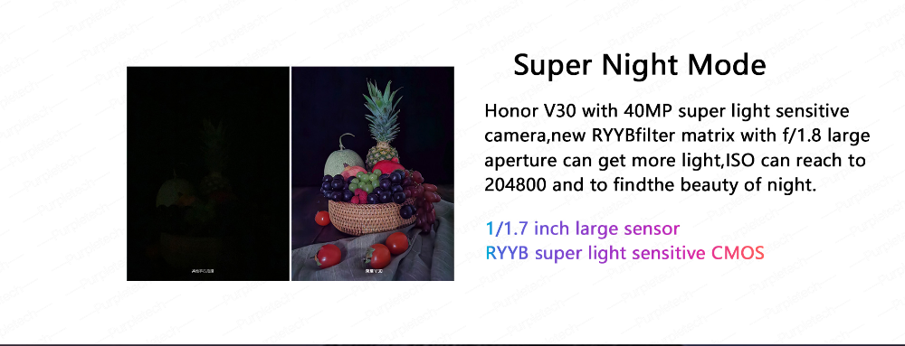 Original Honor V30 Kirin990 7nm Octa core 5G Smartphone 40w Super charge (6)