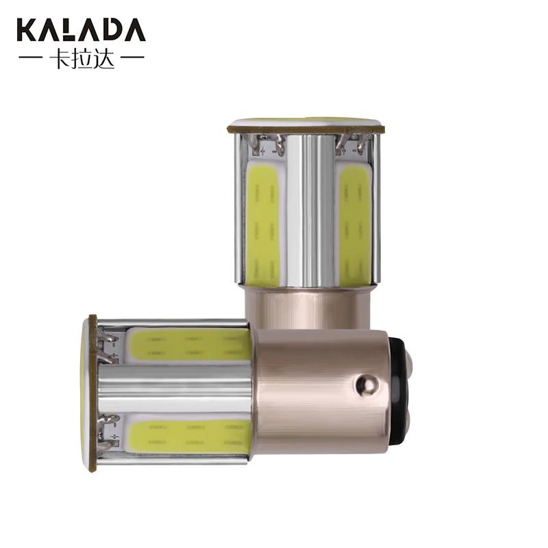 2 Pcs 1156 P21W BA15S 1157 P21/5W BAY15D Socket Cob LED Car Lights Canbus Brake Light Auto Turn Signal Lamp 12V Bulb Blue Red