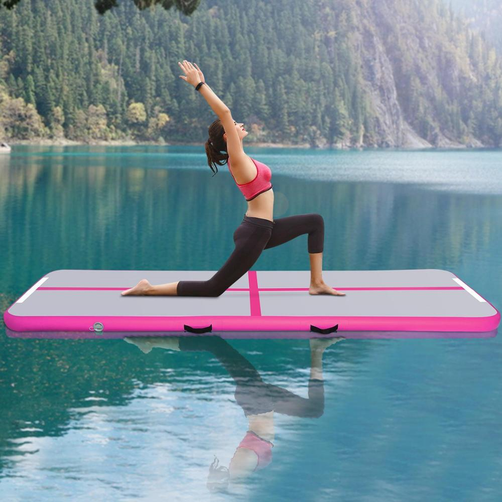 Promotion !Free Shipping 3M Air Track Mats Drop Stitch Material Gymnastics Mat For Training Home Use Air Floor Tumbling Track