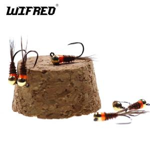 6pcs Tungsten Jig Head Nymph Fly For Fly Fishing Colar Euro Nymph Fly Flies for European Nymphing with Pheasant Tail(China)